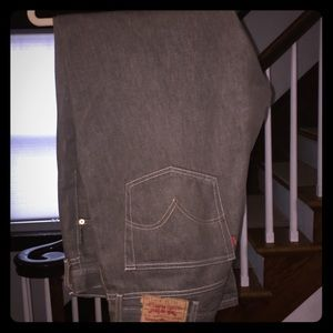 LEVI - Shrink to Fit Jeans - 40 x 32 - Gray